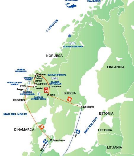 Escandinavia viajes de diseo entre fiordos  Panavisin Tours